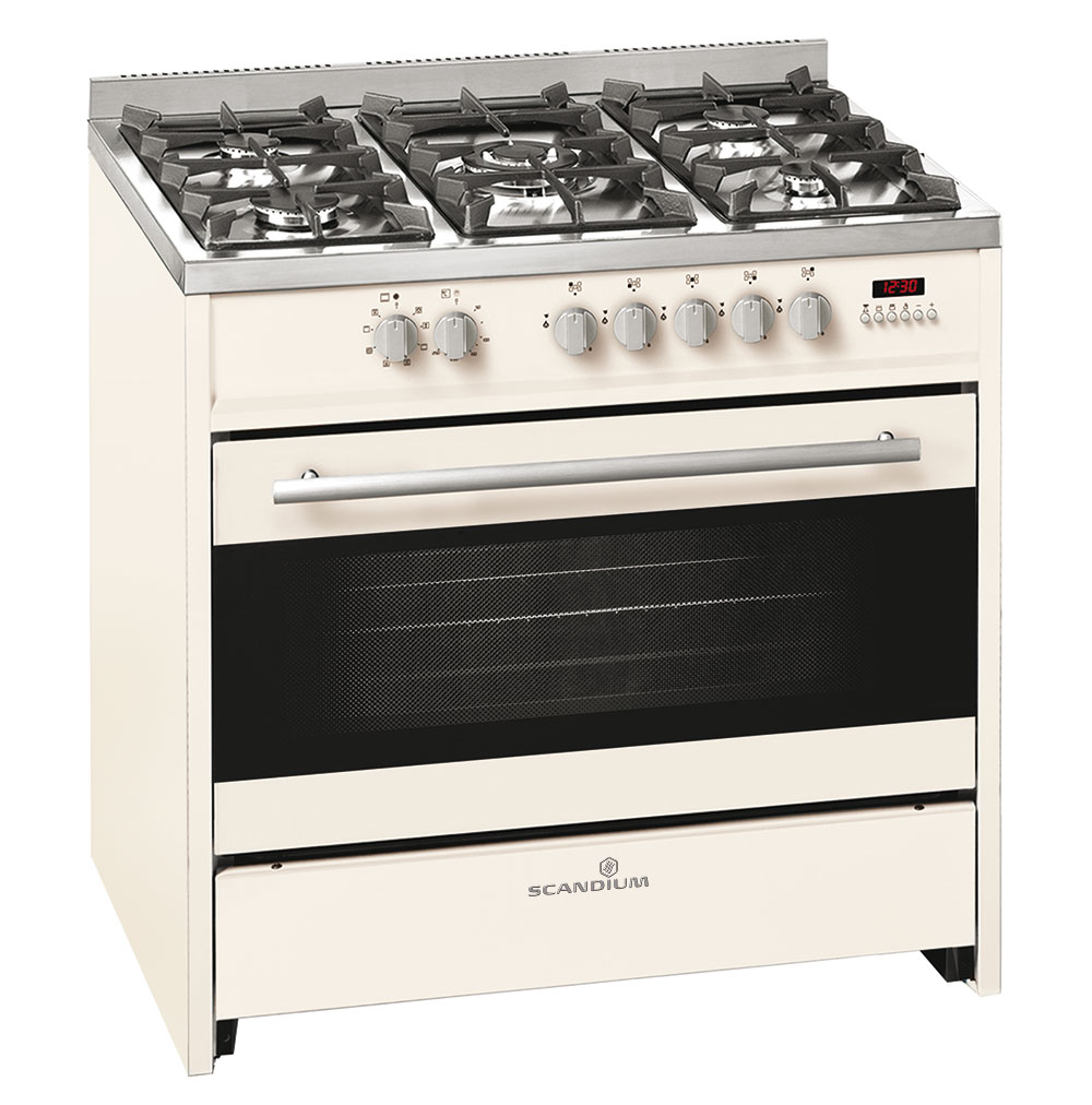 Cream Upright Cooker Gas-Electric 90cm
