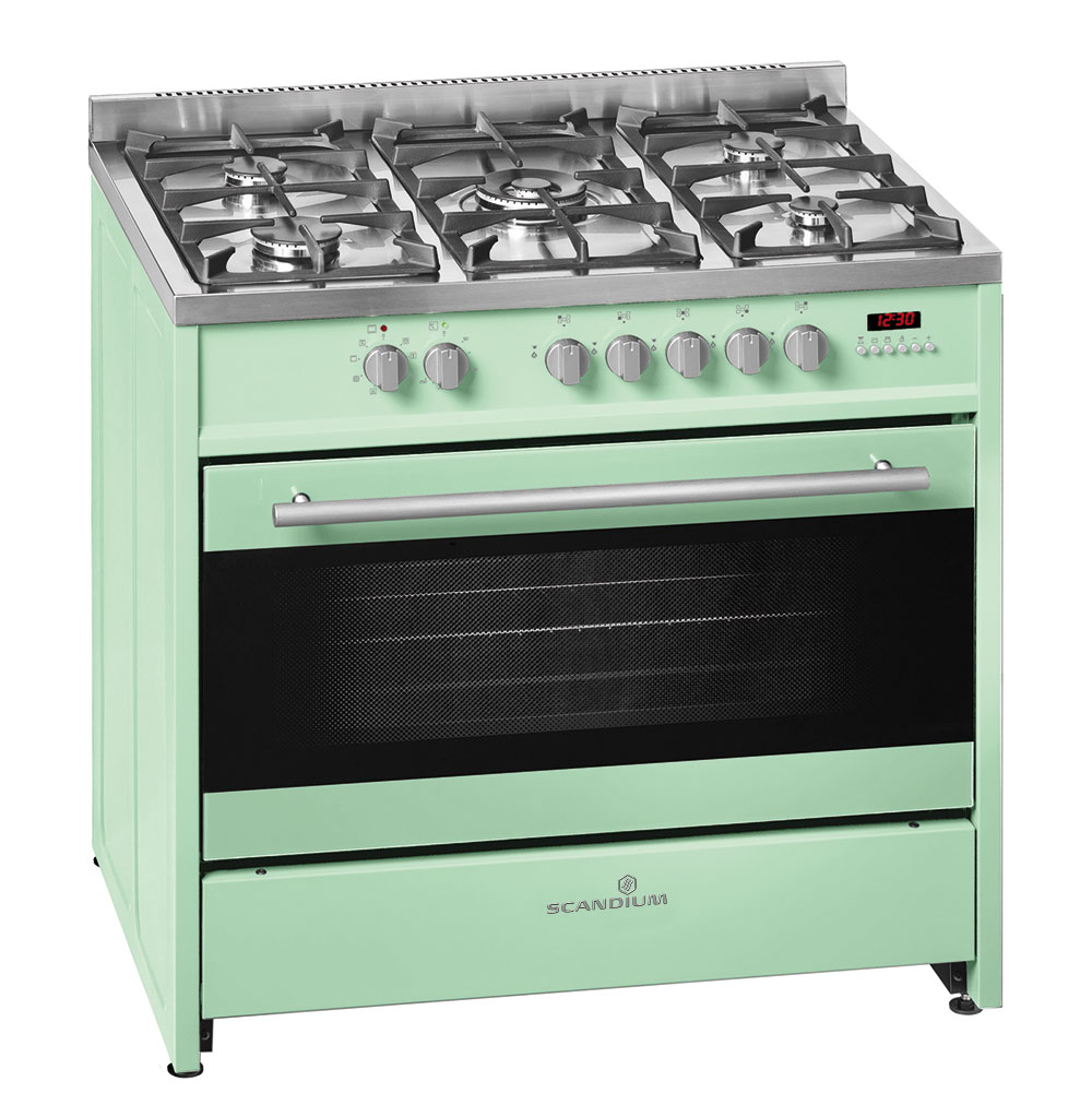 Light Green Upright Cooker Gas-Electric 90cm